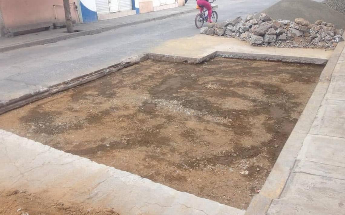 Rehabilitación de bache en la calle Pino Suárez - El Sol de Salamanca